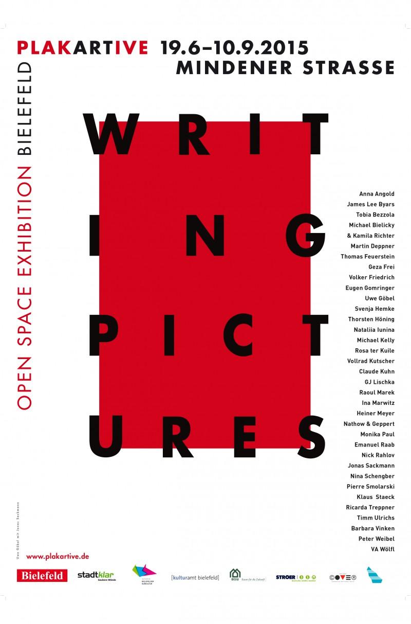 Plakat zur Ausstellung »Writing Pictures«