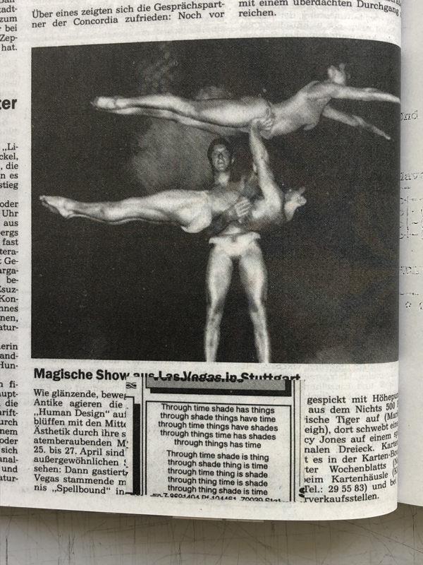 Anzeigenreprints von Anzeigen in diversen Zeitungen seit 1986, Soll+Haben, gutleut_verlag, 2009