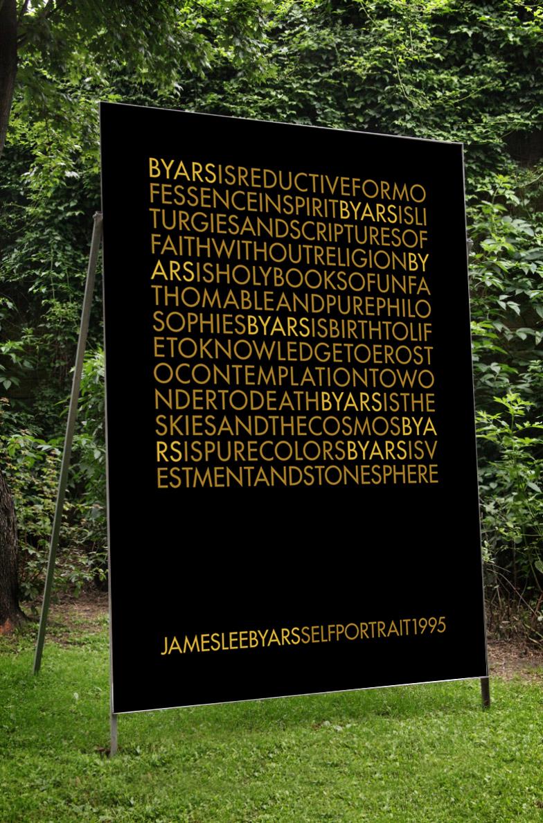 James Lee Byars – »Selfportrait 1995«