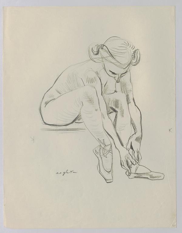 Ohser-Werkausgabe: Weiblicher Akt. © Erich Ohser – e.o.plauen Stiftung.
