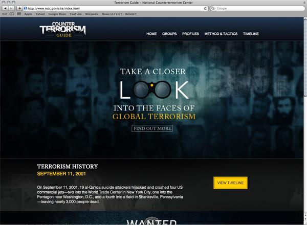 Abbildung 10: Counter Terrorism Guide Website Screenshot, https://www.nctc.gov/site/index.html, Stand: 13.5.2016.