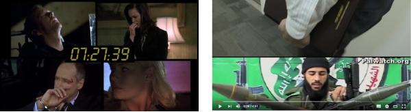 Abbildung 16: links Splitscreen, https://en.wikipedia.org/wiki/24_(TV_series)#/media/File:24_Split_Screen.jpg, Stand: 27.9.2016; rechts Standbild aus dem »Inside NCTC Video«, https://www.nctc.gov/index.html, Stand: 30.5.2016.
