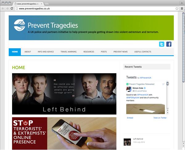 Abbildung 23: Prevent Tragedies Website, Screenshot, http://www.preventtragedies.co.uk/, Stand: 30.9.2016.