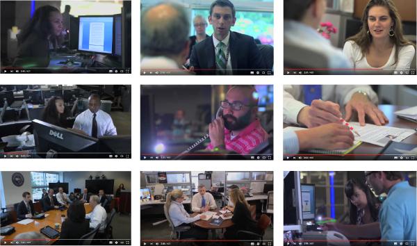 Abbildung 5: »Inside NCTC Video«, Standbilder, https://www.nctc.gov/index.html, Stand: 30.5.2016.